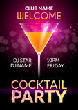 Cocktail Invitation design poster. Cocktail Party drink banner card or flyer template vector Stock Photo