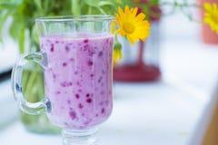 Cocktail juteux de smoothie de baie d'été Photographie stock libre de droits