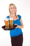 Cocktail-Kellnerin Lizenzfreies Stockbild