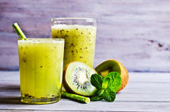 Cocktail with kiwi and mint Royalty Free Stock Photography