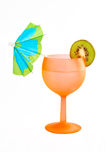 Cocktail of kiwi and umbrella Royalty Free Stock Photos
