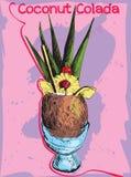 Cocktail-Kokosnuss Colada Stockfoto