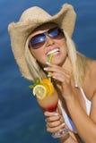 Cocktail-Lächeln Lizenzfreie Stockbilder
