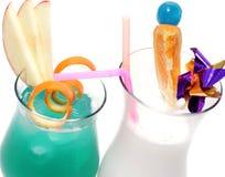 Cocktail - l'Hawai blu e Pina Colada Fotografia Stock Libera da Diritti