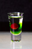 Cocktail layered shots Stock Image