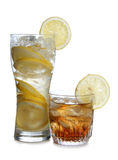 Cocktail and lemon Royalty Free Stock Photo