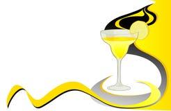 Cocktail  lemon  card Stock Photo