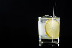 Cocktail with lemon and ice Royalty Free Stock Image