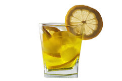 Cocktail with lemon and ice Royalty Free Stock Photos