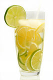 Cocktail with lemon and lime Royalty Free Stock Photography