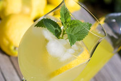 Cocktail with lemon liqueur Stock Images