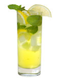 Cocktail with lemon and mint Royalty Free Stock Photos