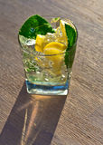 Cocktail with lemon and peppermint Royalty Free Stock Photography
