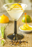 Cocktail with lemon slice Stock Image