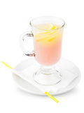 Cocktail with lemon slice Royalty Free Stock Images