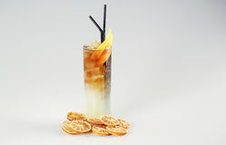 Cocktail with lemon. In studio Stock Image