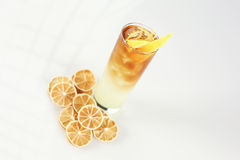 Cocktail with lemon. In studio Stock Images