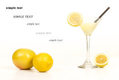 Cocktail with lemon and vodka horizontal Stock Image