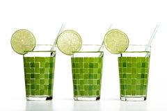 Cocktail with lime Royalty Free Stock Image