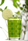 Cocktail with lime Stock Image