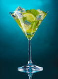 cocktail with lime Stock Photo