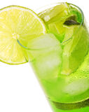 Cocktail with lime Stock Photos