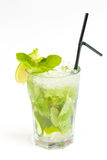 Cocktail with lime. Clear cocktail with ice and lime Royalty Free Stock Images