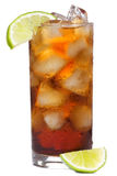 Cocktail with lime and cola Stock Photo