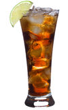 Cocktail with lime and cola Stock Photography