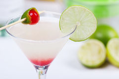 Cocktail with lime juice Stock Photos