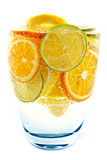 Cocktail from lime, lemon, tangerine, orange Royalty Free Stock Photos