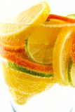 Cocktail from lime, lemon, tangerine, orange Stock Photo