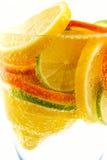 Cocktail from lime, lemon, tangerine, orange Stock Photo
