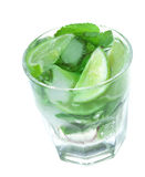 Cocktail with lime and mint Stock Image