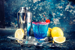 Cocktail liquor with vodka and lime. refreshment summer drink Royalty Free Stock Image