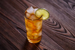 Cocktail Long Island Iced Tea. With ice Stock Photo