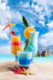 Cocktail and Long tailed boat in Thailand Royalty Free Stock Photography