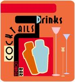Cocktail lounge promo Royalty Free Stock Photo