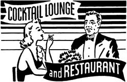 Cocktail Lounge And Restaurant Stock Photography