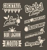 Cocktail lounge retro menu design concept Royalty Free Stock Images