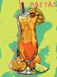 Cocktail Mai Tai do verão Imagem de Stock
