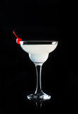 Cocktail in margarita glass Stock Images