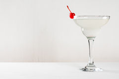 Cocktail in margarita glass Royalty Free Stock Photo