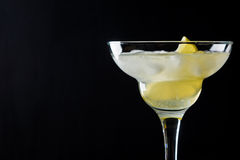 Cocktail margarita with lemon Stock Images