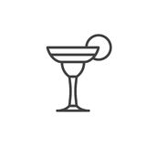 Cocktail margarita line icon, outline vector sign Stock Photo