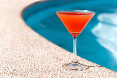 Cocktail Margarita near swim pool Royalty Free Stock Photos