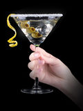 Cocktail martini on a black Royalty Free Stock Photo