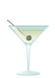 Cocktail Martini mit Olive Vektor Abbildung
