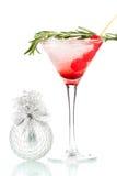 Cocktail martiny de Noël photographie stock libre de droits