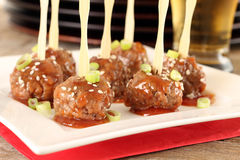 Cocktail meatballs Stock Image